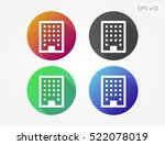 colored icon of building symbol ... | Shutterstock .eps vector #522078019