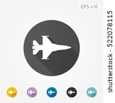 colored icon of jet fighter... | Shutterstock .eps vector #522078115