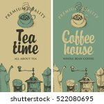 set of vector banners on the... | Shutterstock .eps vector #522080695