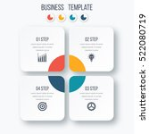 infographics template four... | Shutterstock .eps vector #522080719