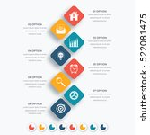 vector square infographics with ... | Shutterstock .eps vector #522081475