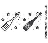 champagne pop line icon ... | Shutterstock .eps vector #522082831