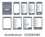 wireframe mobile and tablet app ...