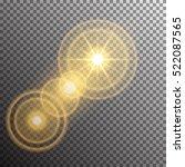 vector transparent sunlight... | Shutterstock .eps vector #522087565