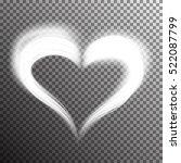 creative shiny heart shape with ... | Shutterstock .eps vector #522087799