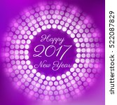 happy new year 2017. vector... | Shutterstock .eps vector #522087829