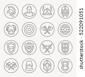 medieval armor thin line icon... | Shutterstock .eps vector #522091051