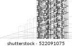 architecture abstract  3d... | Shutterstock . vector #522091075