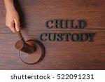 hand holding court gavel and... | Shutterstock . vector #522091231