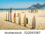 Surfboards At Ipanema Beach ...