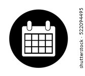 calendar icon illustration... | Shutterstock .eps vector #522094495