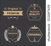 set of vintage badge tag banner ... | Shutterstock .eps vector #522097639