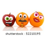 funny healthy fruit family... | Shutterstock . vector #52210195