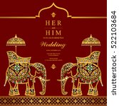 india wedding card. | Shutterstock .eps vector #522103684