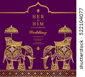 india wedding card. | Shutterstock .eps vector #522104077
