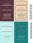 set of birthday invitations... | Shutterstock .eps vector #522107125