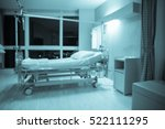 blurred empty patient bed on...   Shutterstock . vector #522111295