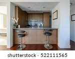 bright modern kitchen with... | Shutterstock . vector #522111565
