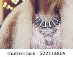 elegant winter outfit. close up ... | Shutterstock . vector #522116809
