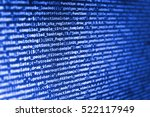 Small photo of Software development. Computer science lesson. IT specialist workplace. Developer working on websites codes in office. Binary digits code editing. Abstract screen of software.