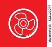 ventilator icon vector... | Shutterstock .eps vector #522123049