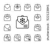 envelope email postcard card... | Shutterstock .eps vector #522123841