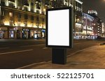 blank mock up of vertical... | Shutterstock . vector #522125701