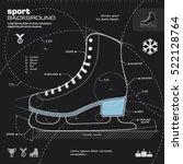 ice skate design vector. winter ... | Shutterstock .eps vector #522128764