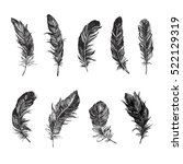 feather pattern | Shutterstock .eps vector #522129319
