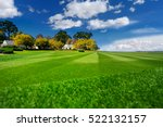 perfectly striped freshly mowed ... | Shutterstock . vector #522132157