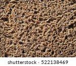 Rye Black Bread Texture Detail...