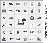 blog icons universal set for... | Shutterstock .eps vector #522138979