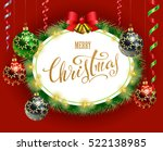 christmas and new year greeting ... | Shutterstock .eps vector #522138985