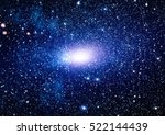 colorful starry night sky outer ... | Shutterstock . vector #522144439