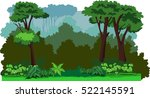 forest cartoon background... | Shutterstock .eps vector #522145591