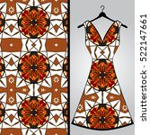 fabric pattern design for a... | Shutterstock .eps vector #522147661