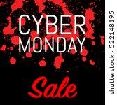 cyber monday advertising poster ... | Shutterstock . vector #522148195