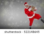 Portrait Of Playful Santa Clau...