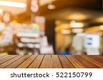 wooden board empty table in... | Shutterstock . vector #522150799