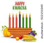 illustration of happy kwanzaa...   Shutterstock .eps vector #522151045