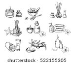 vector set of spa icons. | Shutterstock .eps vector #522155305