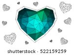 Blue  Green Heart Isolated On...
