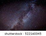view on night sky with milky... | Shutterstock . vector #522160345