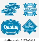 premium quality labels | Shutterstock .eps vector #522161641