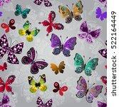 seamless gray gradient pattern... | Shutterstock .eps vector #522164449