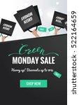 green monday sale  vertical... | Shutterstock .eps vector #522164659