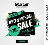 green monday sale dynamic...   Shutterstock .eps vector #522164665