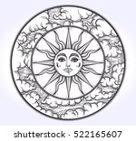 vintage elegant hand draw work... | Shutterstock .eps vector #522165607