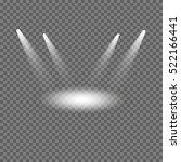 vector set of white spotlights... | Shutterstock .eps vector #522166441
