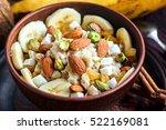 organic oatmeal porridge with... | Shutterstock . vector #522169081